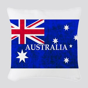 AUSTRALIAN FLAG Woven Throw Pillow